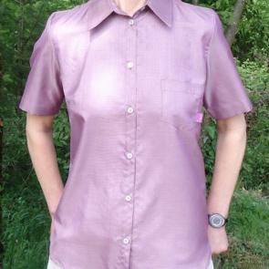 Защитна дамска риза с къси ръкави срещу електромагнитно излъчване