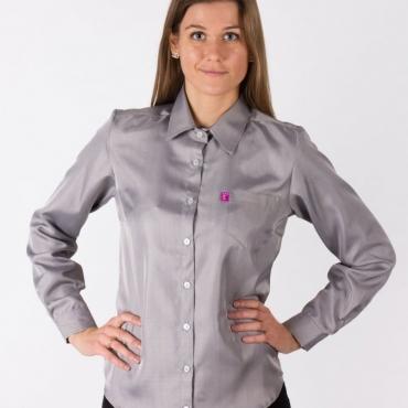 Защитна дамска риза срещу електромагнитно излъчване с дълъг ръкав (сива)