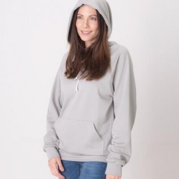 Защитна дамска спортна блуза с качулка (сива) срещу електромагнитно излъчване
