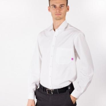 Защитна мъжка риза (бяла) срещу електромагнитно излъчване