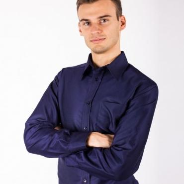 Защитна мъжка риза (флот) срещу електромагнитно излъчване