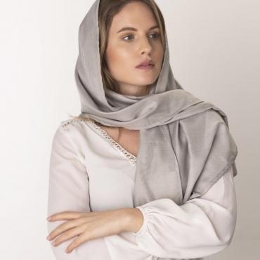 Защитен шал (сив) срещу електромагнитно излъчване